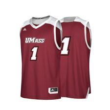 b8625c9a771b UMass Minutemen NCAA Adidas  1 Maroon Replica Basketball Jersey