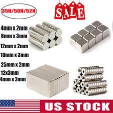 New Round Disc Block Magnets Rare Earth Neodymium N52 N50 N35  20/50/100 Pcs