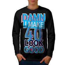 40 anni Compleanno Uomo Manica Lunga T-shirt Nuove   wellcoda
