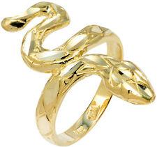 10 Quilates Oro Amarillo Diamante Escala Forma Serpiente Anillo