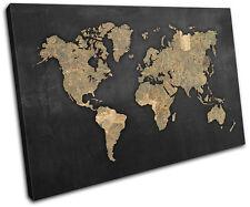 World Atlas Antique Vintage Maps Flags SINGLE TOILE murale ART Photo Print