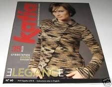 KATIA ELEGANCE knitting yarn pattern book #60 with 35 Designs for Women