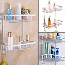 Aluminium Bathroom Shower Shelf Bath Wall Mount Rack Storage Holder Organizer