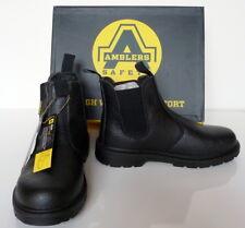 Stivali di sicurezza, da uomo, Nero, Amblers Sicurezza, in acciaio Mid suola, FS116, Taglia UK 6 - 12