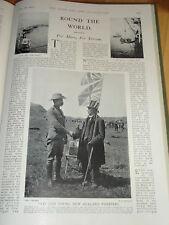 1901 ASSORTED SMALL ARTICLES ~ TAKE TAKE MAORI WARRIOR COL FRANCIS BOER