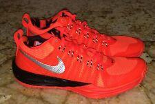 New Mens Sz 7.5 NIKE Lunar TR1 Bright Deep Orange Black Flywire Training Shoes