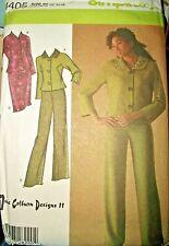 Simplicity 4405 Pattern June Colburn Pants Jacket 8-10-12-14-16 OR12-14-16-18-20