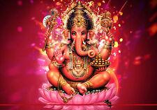 153287 Hindu Lord Ganesh Art Wall Print Poster CA