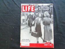 1955 JANUARY 17 LIFE MAGAZINE - SOVIET SOLDIER EYE THE GIRLS - L 938