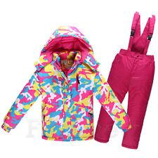 Children's Warm Ski Suits Jacket & Pants Set Girl's Boy's Waterproof Snowsuits