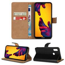 Handy Hülle Echt Leder für Huawei P20 / Lite / Pro Flip Cover Schutz Tasche Book