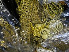 Gold Bronze Brokat Lurex Borte Band Spitze Kordel Verziermaterial Shabby Vintage