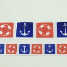 Anneau et ancre rouge et Navy ruban 15mm ou 25mm