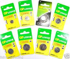 GP Lithium Battery 1.5V 3V 12V Cell Batteries Coin Button Car Remote TV Camera