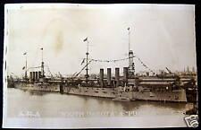 **1940's USA  BATTLE SHIP SOUTH DAKOTA & PUEBLO ~ RPPC