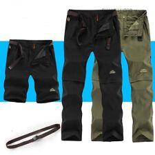 Mens Outdoor Hiking Long Short Pants Climb Windproof Waterproof Travel Trousers