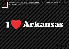 (2) I Love Arkansas Sticker Decal Die-Cut Vinyl