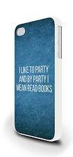 Mi piace partito libri divertente slogan Cover per iPhone 4 / 4S 5 / 5S 5C 6 PLUS