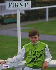 Steve Cauthen SIGNED 8x10 Photo + 1978 Triple Crown PSA/DNA AUTOGRAPHED
