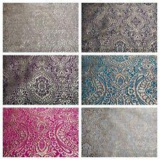 "Gold Ornamental Lurex Indian Banarsi Brocade Fabric 52"" Wide MA874 Mtex"