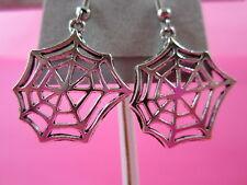 Spider Web Dangle Earrings