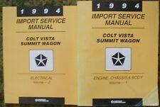 1994 Dodge Colt Summit Shop Manual Set 94