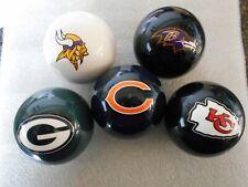 New! NFL Team Logo Billiard / Pool / Cue Ball- Pick Your Team! FREE SHIP!