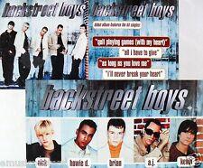 "BACKSTREET BOYS ""DEBUT ALBUM"" 2-SIDED U.S. PROMO POSTER / BANNER - Pop, Pop Rock"