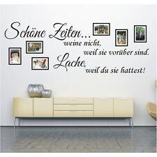Wandtattoo Spruch Schöne Zeiten Lache Bilderrahmen Foto Wandsticker Aufkleber 2