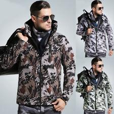 Men's Winter Military Style Camouflage Hoodies Jacket Windbreaker Outwear Coat