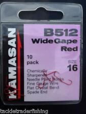 KAMASAN B512 WIDEGAPE RED SPADE END HOOKS - MINUTE WHISKER BARB - 10 PACK
