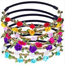 Boho Rose Flower Headband Hairband Alice Festival Hippy 10 Colours - 10% off 3+