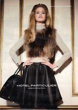 PUBLICITE ADVERTISING 2010  HOTEL PARTICULIER pret à porter haute couture
