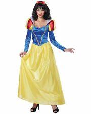 CL635 Ladies Snow White Princess Fairy Tale Long Fancy Dress Up Disney Costume
