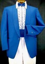VINTAGE MIAMI VICE ROYAL BLUE MENS TUXEDO JACKET or 4pc TUX RETRO MANY SIZES