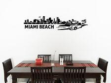 Miami plage Skyline salle à manger dîner chambre décalcomanie