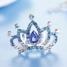 Gift Hairclip Crystal Rhinestone Tiara Crown Hair Comb Hair Jewelry Flower