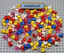LEGO - Cups / Mugs - Trans Clear Blue Red Pink Minifigure Coffee Food Bulk Lot