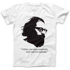 Allen Ginsberg Inspired T-Shirt 100% Premium Cotton Beat Poet Flower Power