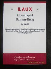 Granatapfel Balsam-Essig 5% Säure, Essig, Balsamessig, Obstessig aromatisiert