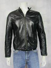 Tough Rider New Men Black Soft Napa Short Biker Leather Jacket Bike Rock