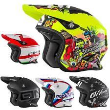 O'Neal SLAT Trial Motorrad Roller Jet Helm Scooter Mofa Magnetverschluss Fidlock