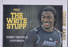 RG3 Robert Griffin III Football RARE INSERT ROOKIE Card NFL RC Redskins HOT!