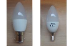 6w LED Candle Bulb Lamp BC Bayonet B22 SES Small Screw E14 Day Light White 40w