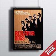 RESERVOIR DOGS Poster A3 / A4 Tarantino's Cult Classic Movie Art Print Home Deco