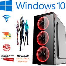 ULTRA FAST Quad Core Gaming PC i7 16GB RAM 2TB GTX 1650 Windows 10 Computer