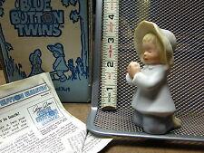 Blue Button Twins boy & girl set Og Roger Brown pastel ceramic figures 1983