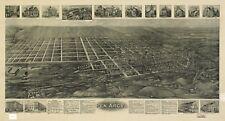 Stampa POSTER Antico città americane città mappa degli stati PEN Argyl PENNSYLVANIA