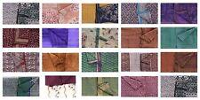 Vintage Indian 100% Silk Saree Printed Used Sari Craft Fabric 5Yd Dress Fabric