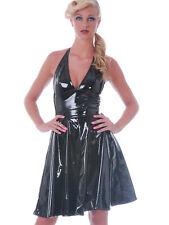 Falda de PVC circular con vuelo Jive - negro, talla 8, 10, 12+